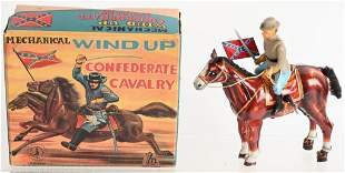 JAPAN TIN WINDUP CONFEDERATE CAVALRY w/ BOX