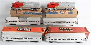 LIONEL 2343 AA ENGINES & 4 PASSENGER CARS