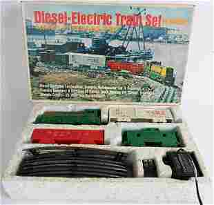 MARX WESTERN PACIFIC DIESEL ELECTRIC TRAIN SET