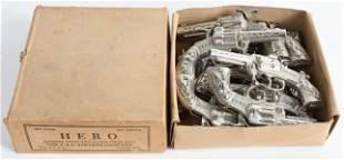 ORIGINAL BOX OF 12 J&E STEVENS HERO CAP GUNS