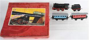 DISTLER TIN WINDUP TRAIN SET w/ BOX