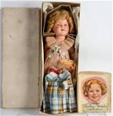 SHIRLEY TEMPLE 1930'S DOLL w/ BOX & MORE