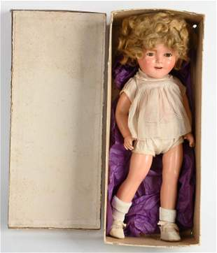 SHIRLEY TEMPLE 1930'S DOLL w/ BOX