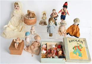 VINTAGE BISQUE and OTHER DOLLS
