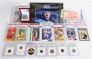 LARGE WHAT KNOT COLLECTION COINS, RING, CARDS, ETC