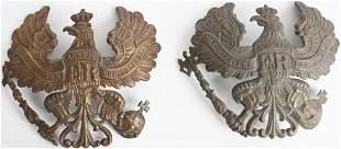 WW1 IMPERIAL GERMAN SPIKED HELMET PLATE LOT WWI