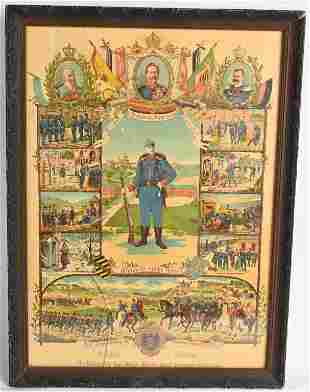 WW1 IMPERIAL GERMAN MEMORIAL TIME IN SERVICE WWI