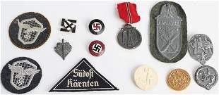 WWII NAZI GERMAN INSIGNIA HJ HEER LUFTWAFFE WW2