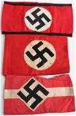 WWII NAZI GERMAN ARMBAND LOT HJ NSDAP SS WW2