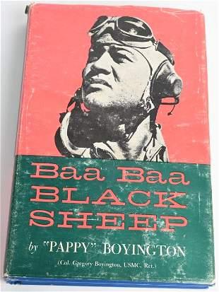 WWII BOOK BAA BAA BLACK SHEEP BOYINGTON SIGNED
