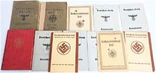 WWII NAZI GERMAN PHOTO ID BOOKLETS NSDAP RAD DAF