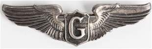 WWII US ARMY AIR CORPS GLIDER PILOT WINGS STERLING