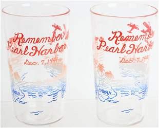 WWII US PATRIOTIC REMEMBER PEARL HARBOR GLASSES
