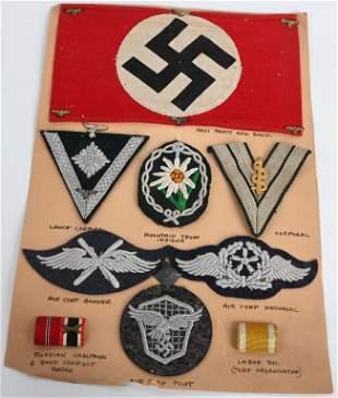 WWII NAZI GERMAN INSIGNIA LOT NSDAP HEER LUFTWAFFE