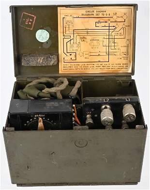 WWII U.S. ARMY SIGNAL CORPS TELEGRAPH SET TG-5-B