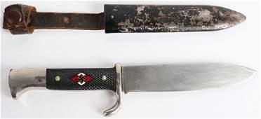 WWII NAZI GERMAN HITLER YOUTH KNIFE E. V. S. MAKER