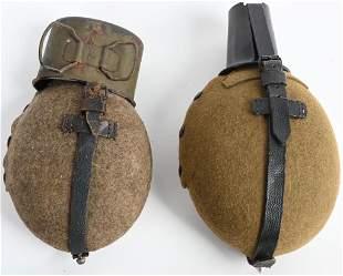 WWII NAZI GERMAN CANTEEN LOT OF 2 M31 & MOUNTAIN
