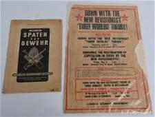 WWII NAZI RAD & ENGLISH COMMUNIST POSTER WW2