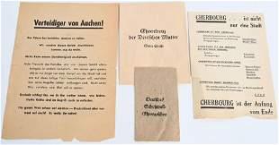 WWII NAZI GERMAN MEDAL PACKETS PROPAGANDA LEAFLETS