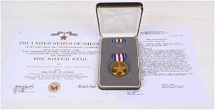 VIETNAM WAR SILVER STAR MEDAL + CITATION 9th ID