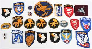 WWII US AIRBORNE SHOULDER SLEEVE PATCH LOT WW2
