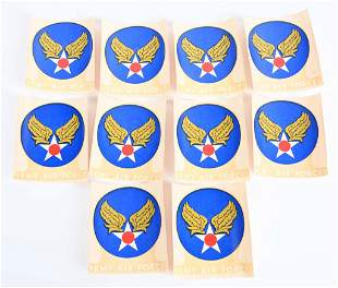 WWII US AIR CORPS FLIGHT JACKET DECAL LOT OF 10