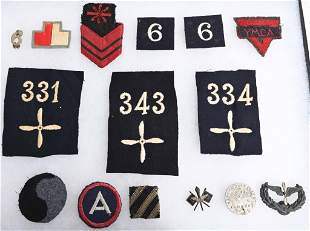 WWI US PATCH LOT AIR SERVICE INSIGNIA INFANTRY WW1