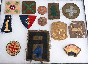WWI US ARMY SHOULDER SLEEVE PATCH LOT OF 12 WW1