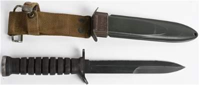 WWII US ARMY BLADE MARKED M3 FIGHTING KNIFE WW2