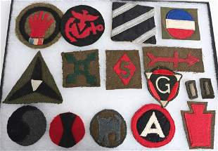WWI & WWII US ARMY DIVISIONAL INSIGNIA LOT WW1