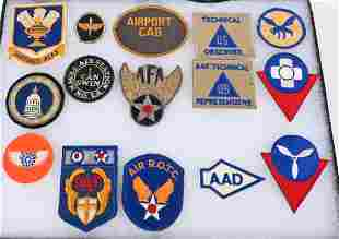 WWII US ARMY PATCH LOT BULLION TECH OBSERVER
