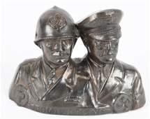 WWII NAZI GERMAN ADOLF HITLER MUSSOLINI BUST WW2