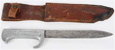 WWII THEATER MADE FIGHTING KNIFE W/ SCABBARD WW2