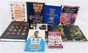 LARGE US MILITARY REFERENCE BOOK LOT OF 9 WW2