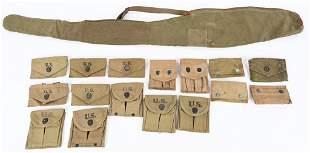 WWI & WWII US ARMY FIELD GEAR LOT M1 CARBINE POUCH