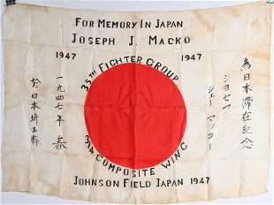 WWII JAPANESE OCCUPATION 35th FIGHTER GROUP FLAG