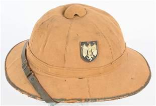 WWII NAZI GERMAN 1st PATTERN ARMY PITH HELMET WW2