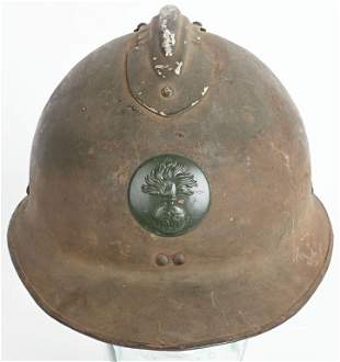 WW2 M1926 FRENCH INFANTRY ADRIAN HELMET WITH LINER
