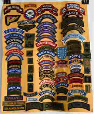 COLLECTION OF WWII THRU CURRENT PATCH LOT OF 81