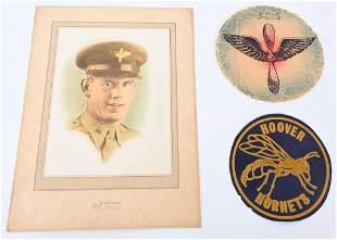 WWII US ARMY AIR CORPS GROUP W FLIGHT JACKET PATCH