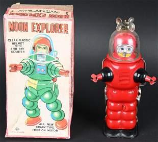KO TIN WINDUP MOON EXPLORER w/ BOX