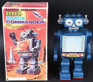 SH BATTERY OP SUPER SPACE COMMANDER w/ BOX