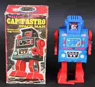 MEGO WINDUP CAP'T ASTRO SPACE MAN w/ BOX