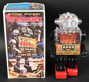 SJM BATTERY OP PISTON ROBOT w/ BOX