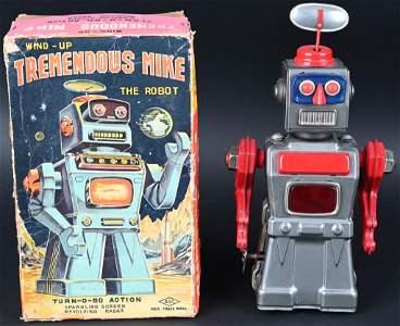 ASC TIN WINDUP TREMENDOUS MIKE ROBOT w/ BOX