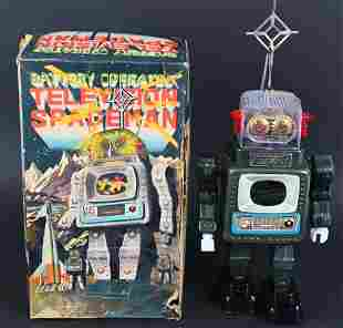 ALPS BATTERY OP TELEVISION SPACEMAN w/ BOX