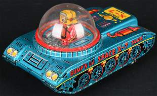KO TIN WINDUP X-7 SPACE TANK