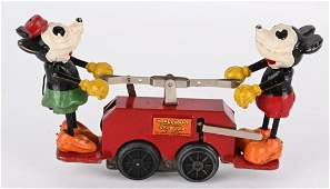 LIONEL WINDUP MICKEY MOUSE HAND CAR