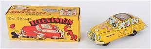 MARX Tin Friction WALT DISNEY TELEVISION CAR w/Box