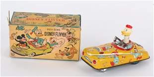 LINEMAR TIN WINDUP DISNEY FLIVVER w/ BOX